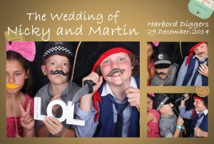 Photo strip Kids at Nicky and Martin Wedding