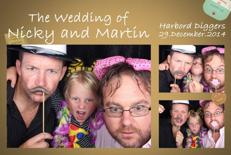 Photo strip Dads and boy at Nicky and Martin Wedding