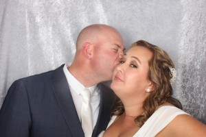 Carly and Jordan in the photo booth