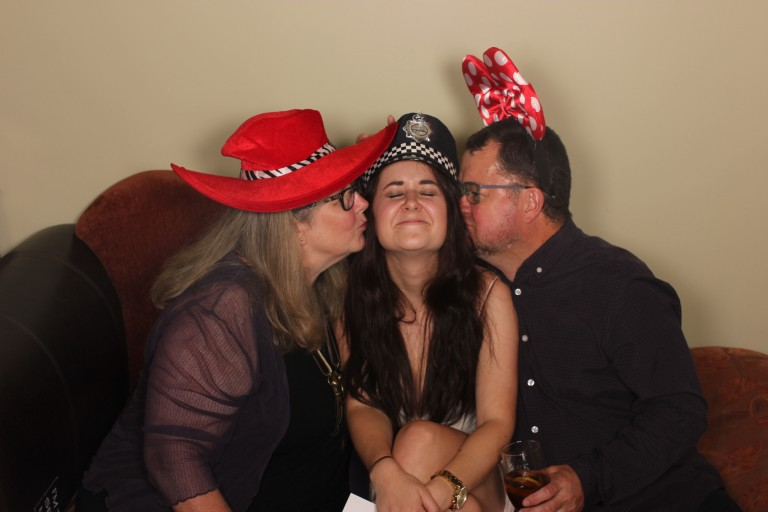Jordy with Mum and Dad at her 21st Birthday
