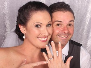 wedding ring photo booth