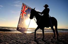 Anzac Day Man on horse