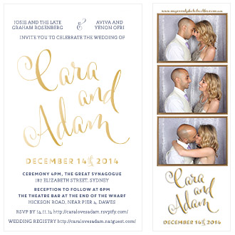 Match wedding invitation