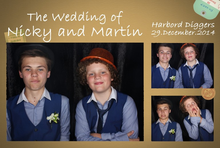 Photo Strip Best Men at Nicky and Martin Wedding