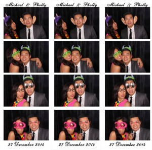 Three photo strips from Michael and Pholly Wedding
