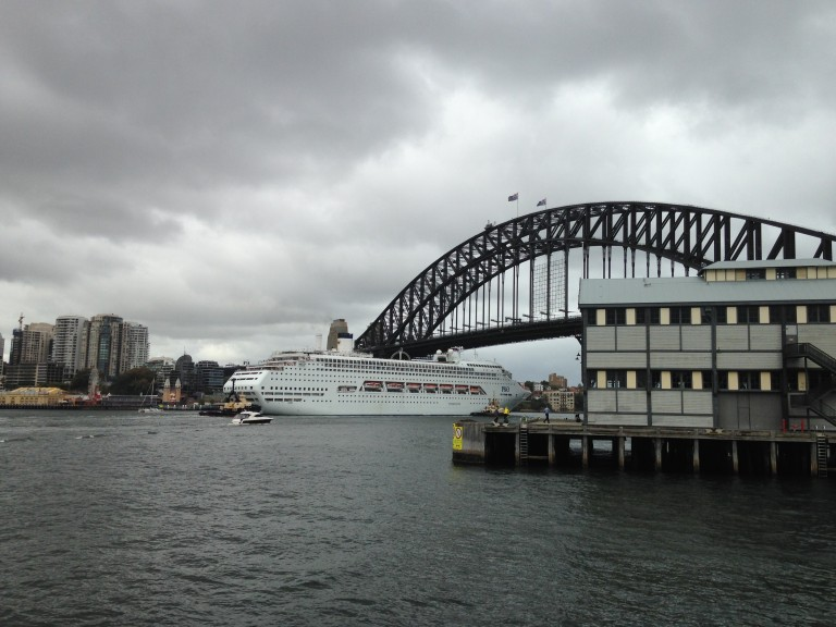 Harbour Bridge from The Theatre Bar at Pier 4