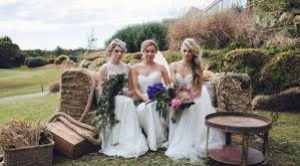 The Springs brides on bench
